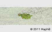 Satellite Panoramic Map of Redange, lighten