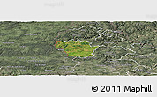 Satellite Panoramic Map of Redange, semi-desaturated