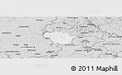 Silver Style Panoramic Map of Redange