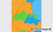Political Simple Map of Diekirch