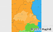Political Shades Simple Map of Diekirch