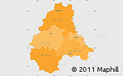 Political Shades Simple Map of Diekirch, single color outside