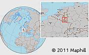 Gray Location Map of Vianden