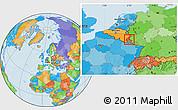 Political Location Map of Vianden