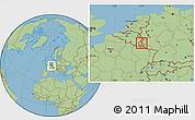 Savanna Style Location Map of Vianden