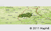 Satellite Panoramic Map of Wiltz, physical outside