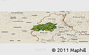 Satellite Panoramic Map of Wiltz, shaded relief outside