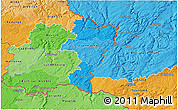 Political Shades 3D Map of Grevenmacher