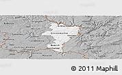 Gray Panoramic Map of Grevenmacher