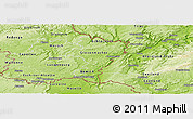 Physical Panoramic Map of Grevenmacher