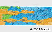 Political Panoramic Map of Grevenmacher