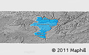 Political Shades Panoramic Map of Grevenmacher, desaturated