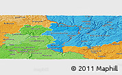 Political Shades Panoramic Map of Grevenmacher