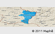 Political Shades Panoramic Map of Grevenmacher, shaded relief outside