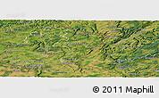 Satellite Panoramic Map of Grevenmacher