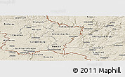 Shaded Relief Panoramic Map of Grevenmacher