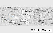 Silver Style Panoramic Map of Grevenmacher