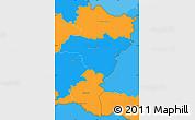 Political Simple Map of Grevenmacher