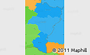 Political Shades Simple Map of Grevenmacher