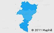 Political Shades Simple Map of Grevenmacher, single color outside