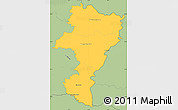 Savanna Style Simple Map of Grevenmacher