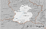 Gray 3D Map of Luxembourg