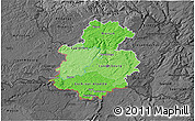 Political Shades 3D Map of Luxembourg, darken, desaturated