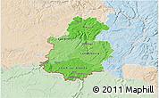 Political Shades 3D Map of Luxembourg, lighten