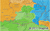 Political Shades 3D Map of Luxembourg