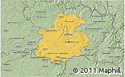 Savanna Style 3D Map of Luxembourg