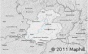 Silver Style 3D Map of Luxembourg