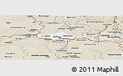 Classic Style Panoramic Map of Esch-sur-Alzette