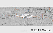 Gray Panoramic Map of Esch-sur-Alzette