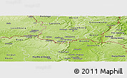 Physical Panoramic Map of Esch-sur-Alzette