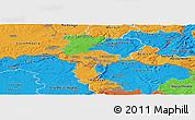 Political Panoramic Map of Esch-sur-Alzette