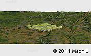Satellite Panoramic Map of Esch-sur-Alzette, darken