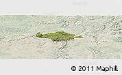 Satellite Panoramic Map of Esch-sur-Alzette, lighten
