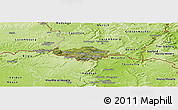 Satellite Panoramic Map of Esch-sur-Alzette, physical outside