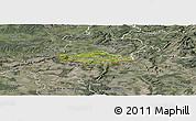 Satellite Panoramic Map of Esch-sur-Alzette, semi-desaturated
