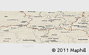 Shaded Relief Panoramic Map of Esch-sur-Alzette