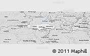 Silver Style Panoramic Map of Esch-sur-Alzette