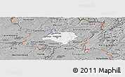 Gray Panoramic Map of Luxembourg