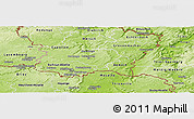 Physical Panoramic Map of Luxembourg