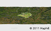Satellite Panoramic Map of Luxembourg, darken