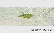 Satellite Panoramic Map of Luxembourg, lighten