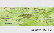 Satellite Panoramic Map of Luxembourg, physical outside