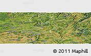 Satellite Panoramic Map of Luxembourg