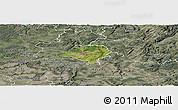 Satellite Panoramic Map of Luxembourg, semi-desaturated