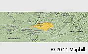 Savanna Style Panoramic Map of Luxembourg