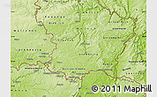 Physical Map of Luxembourg